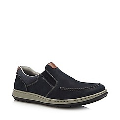 Rieker - Navy Leather Slip-On Shoes
