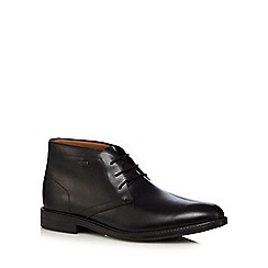 Clarks - Black leather 'Chilver Hi GTX' Chukka boots