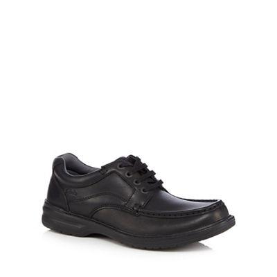 Clarks - Black leather 'Keeler' lace up shoes