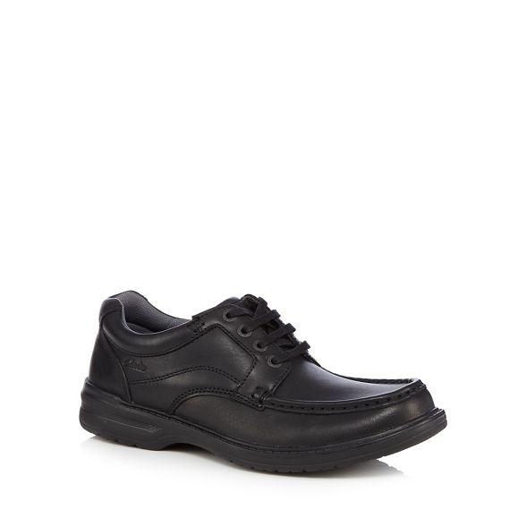 up Clarks shoes lace leather Black 'Keeler' SrSIZ