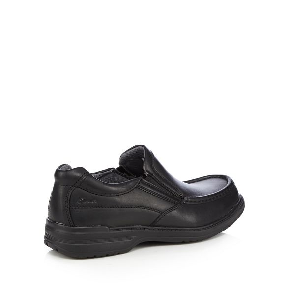 on leather slip Clarks shoes Black 'Keeler' Igpwxnqa8O