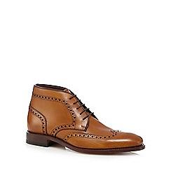 Loake - Tan leather 'Harrington' brogue boots