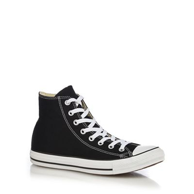 Converse - Black Black Black canvas 'All Star' high tops 2bc769