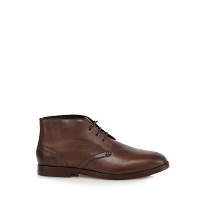 Online ExclusiveH By Hudson - Brown leather Chukka boots