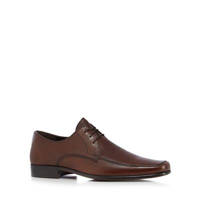 084011640688: Brown Leather Derby Shoes