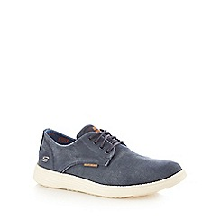 Skechers - Navy canvas 'Status Borges' trainers