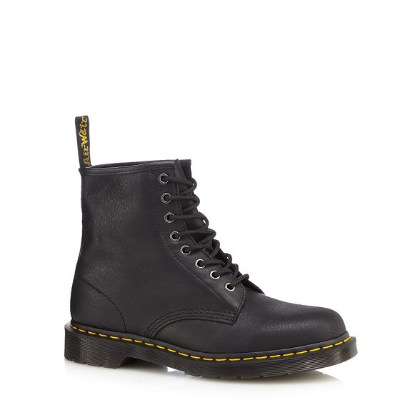 Black Martens lace leather up Dr boots x65zZSTqSw