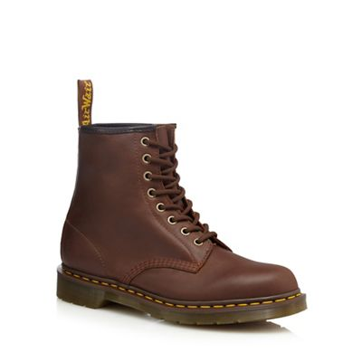 Online ExclusiveDr Martens - Brown leather lace up boots