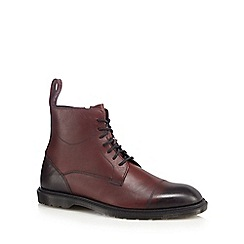 Dr Martens - Burgundy leather 'Elsfield' lace up boots