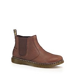 Dr Martens - Brown leather 'Lyme' Chelsea boots