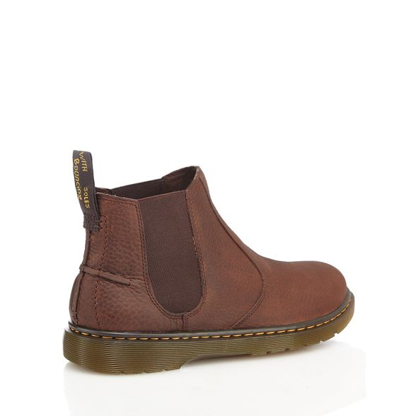 'Lyme' boots Martens Dr Chelsea leather Brown xq6AgwT1A