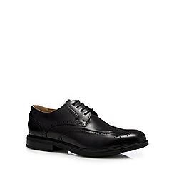 Steptronic - Black leather 'Granada' brogues