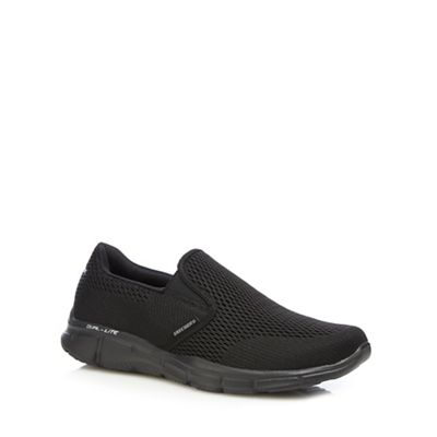 Skechers - Black 'Equalizer Double' slip on trainers