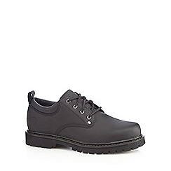 Skechers - Black leather lace up shoes
