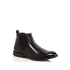 Hush Puppies - Black leather 'Deacon Mainstreet' Chelsea boots