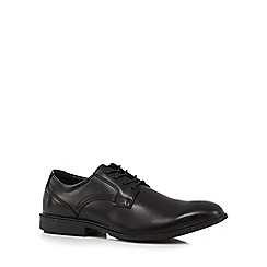 Hush Puppies - Black patent 'Durban' Derby shoes