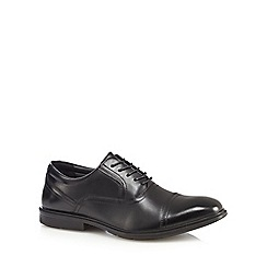 Hush Puppies - Black leather 'Donny' Oxford shoes