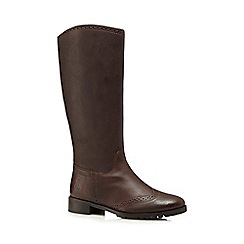 Hush Puppies - Brown 'Emilia' high ankle riding boots