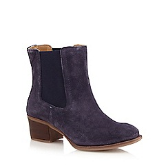 Hush Puppies - Blue 'Landa Nellie' mid Chelsea boots