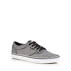 Vans - Grey canvas 'Atwood' lace up trainers