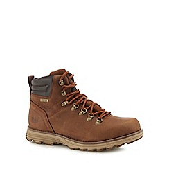 Caterpillar - Brown leather 'Sire' boots