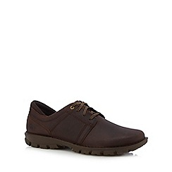 Caterpillar - Brown leather 'Caden' lace up shoes