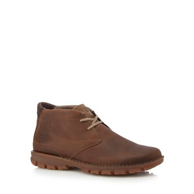 Caterpillar - Tan leather 'Mitch' Chukka boots