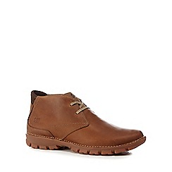 Caterpillar - Brown leather 'Mitch' chukka boots