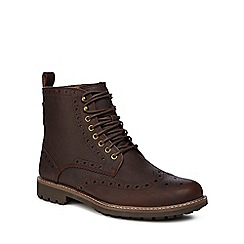 Clarks - Brown 'Montacute Lord' boots