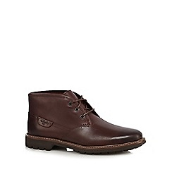 Clarks - Brown leather 'Montacute Dke' Chukka boots