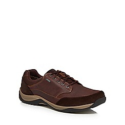 Clarks - Dark brown 'Baystone Go GTX' trainers