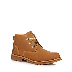 Timberland - Tan leather lace up boots