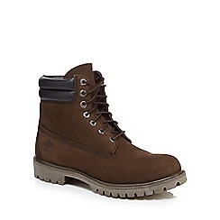 Timberland - Dark brown lace up boots