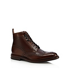 Loake - Brown leather 'Bosworth' lace up boots