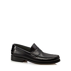 Loake - Black leather loafers