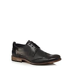 Lotus Since 1759 - Black leather 'Kade' Derby shoes