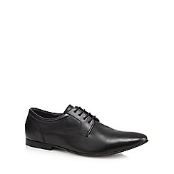 Base London - Black leather 'Phipps' Derby shoes