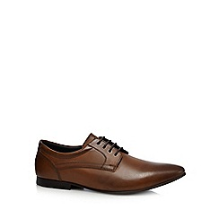 Base London - Tan leather 'Phipps' Derby shoes