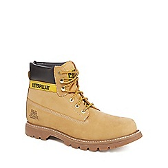 Caterpillar - Tan suede ankle Colorado boots