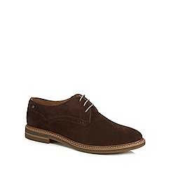 Base London - Brown suede 'Blake' lace up shoes