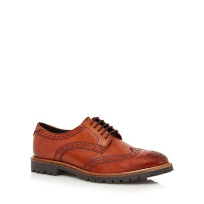Base London   Tan Leather 'trench' Brogues by Base London