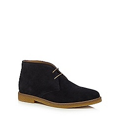 Base London - Navy suede 'Charlton' desert boots