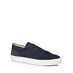 Jack & Jones - Navy suede 'Galaxy' trainers