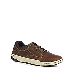 Caterpillar - Dark tan leather 'Colfax' trainers