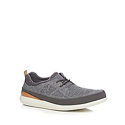 Clarks - Grey textured trainers