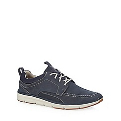 Clarks - Navy suede 'Orson Bay' trainers