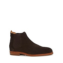 H By Hudson - Brown suede 'Tonti' Chelsea boots