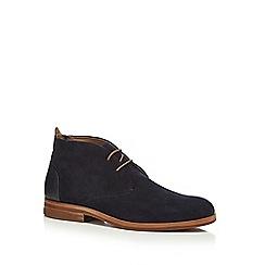 H By Hudson - Navy suede 'Matteo' desert boots