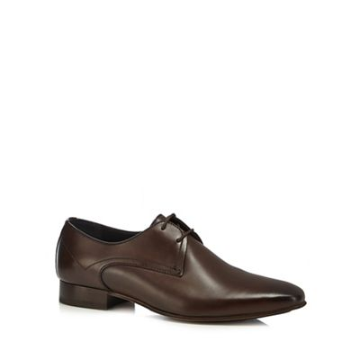Online ExclusiveH By Hudson - Brown leather 'Leton' Derby shoes