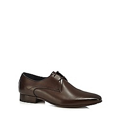 H By Hudson - Brown leather 'Leton' Derby shoes